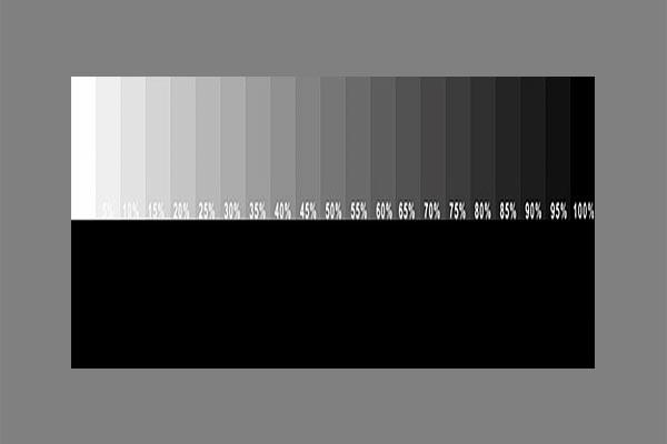 Testbild zur Monitor Kalibrierung