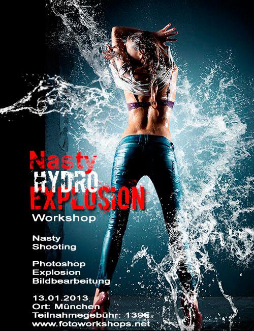 Nasty Water Explosion Foto und Bildbeareitungsworkshop