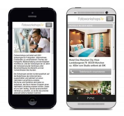 Fotoworkshops Smartphone Webseite