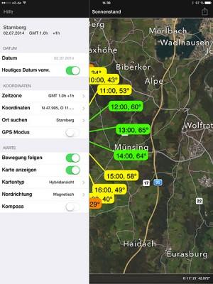 Sonnenstand App für Outdoorshootings und Landschaftsfotografen