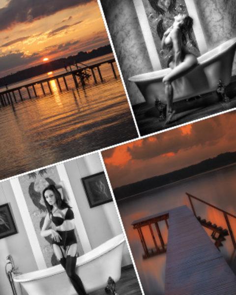 Akt bei Sonnenaufgang am See mit Top Model am 4.7.