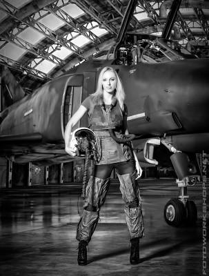 Top Gun Fotoshooting mit Marianna Stroscherer