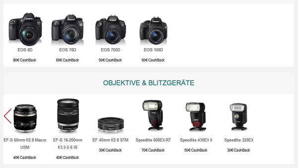Canon Winter Cashback Promotions