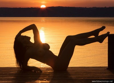 Bild vom Aktworkshop bei Sonnenaufgang mit Kalina - Calikalinka
