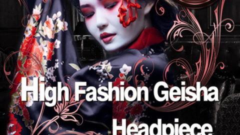High Fashion Geisha Headpiece Workshop in Top Location  am 6.9.