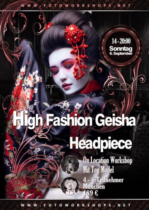High Fashion Geisha Headpiece Workshop in Top Location  am 6.9.