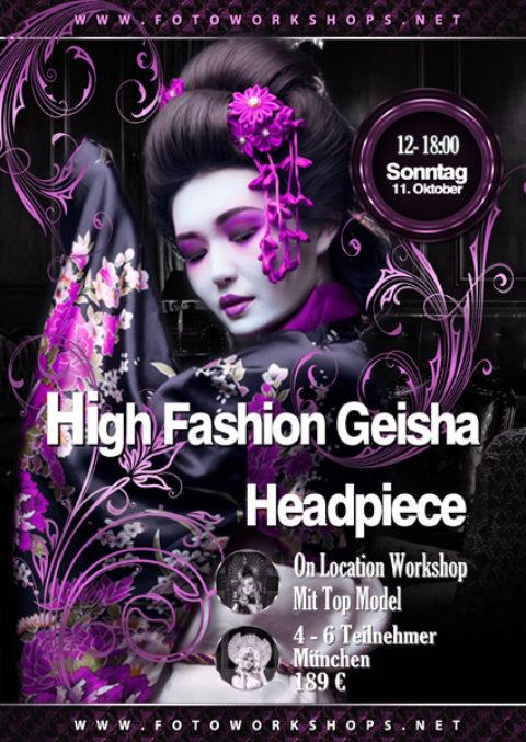High Fashion Geisha Headpiece Workshop am 11.10.