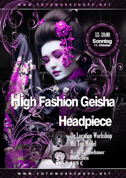 High Fashion Geisha Headpiece Workshop II
