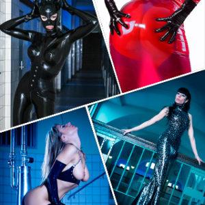 Kinky High Gloss Dolls - Fetisch Latex Fotoworkshop mit Top Model