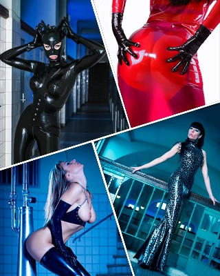 Kinky High Gloss Dolls - Fetisch Latex Fotoworkshop mit Top Model