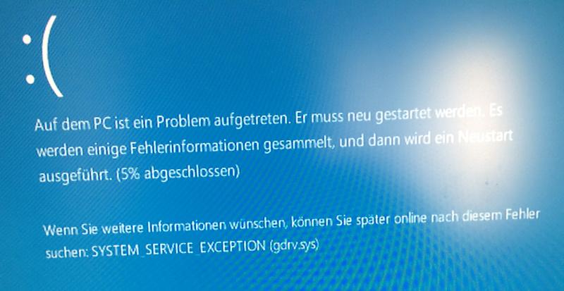 Windows 10 Bluescreen