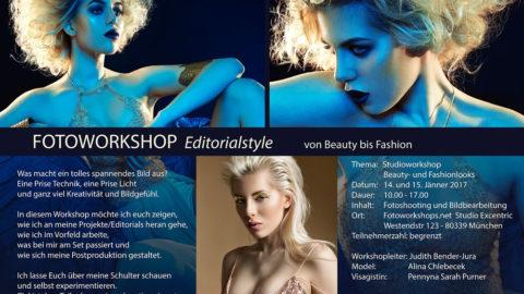 Master Class Editorial Workshop mit Top Fotografin Judith Bender Jura am 14.1.17