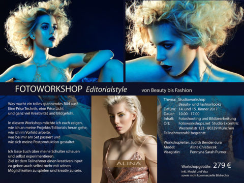 Master Class Editorial Workshop mit Top Fotografin Judith Bender Jura am 14.1.17