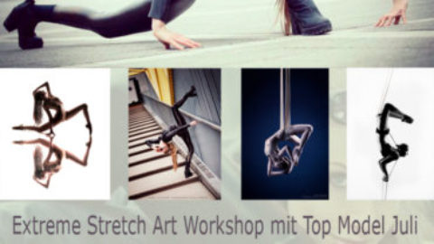 Extreme Stretch Art Kontorsion Workshop mit Top Model Juli Böhm am 12.5.