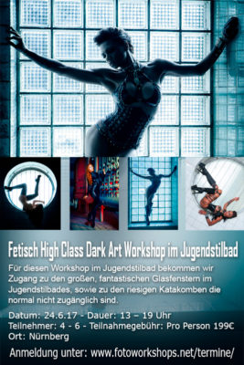 Fetisch High Class Dark Art Workshop im Jugendstilbad am 25.6.