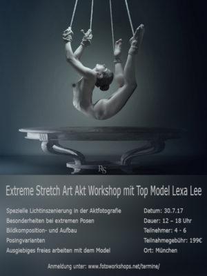Extreme Stretch Art Akt Workshop mit Top Model Lexa Lee am 30.7.