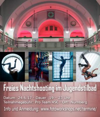 Workshop Freies Nachtshooting im Jugendstilbad