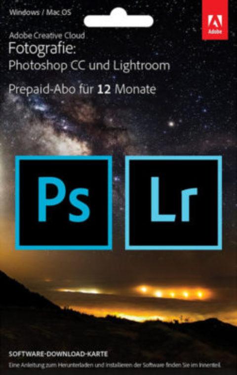 Adobe Photoshop CC + Lightroom für nur 7,88 im Monat