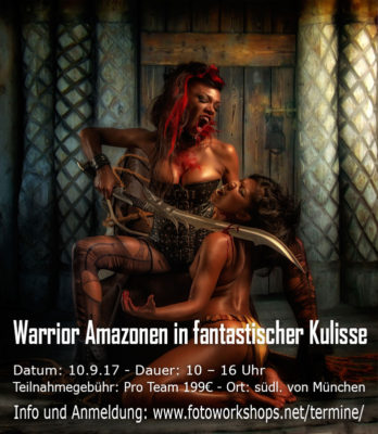Warrior Amazonen in fantastischer Kulisse mit Top Model