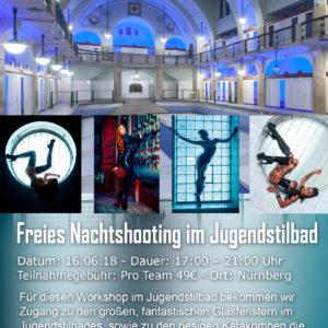 Freies Nachtshooting im Jugendstilbad am 16.6.18