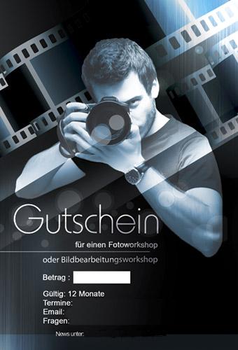 Geschenk Gutschein für einen Fotoworkshop für 99€